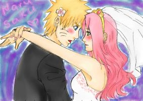 Narusaku wedding day~. by Heemana
