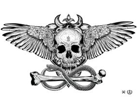 Winged Skull by e1-since1987