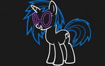 Vinyl Scratch - LineArt Neon Wallpaper by GT4tube