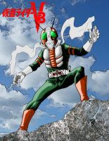 Kamen Rider V-3   (Colors) by Onore-Otaku
