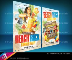 Beach Rock Party Flyer Templates by AnotherBcreation