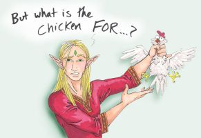 The purpose of a chicken by Pointy-Eared-Fiend
