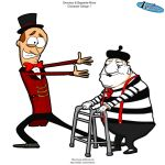 ringmaster and mime Design 01 by Aniforce