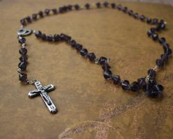 Purple Rosary by Firestorm-the-Poet