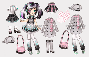 Paper Doll Adopt 1 (closed) by SilverChaim