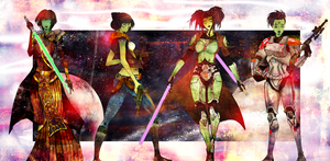 My Mirialans from The Old Republic by HausofDye