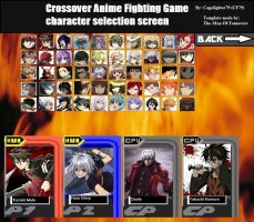 Anime Crossover Roster by Cagefighter79
