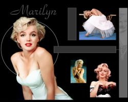 Marilyn Monroe Wallpaper 2 by JohnRose-Illustrator