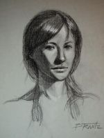 Portrait of Cassie - Live model drawing by Beware-of-Artist