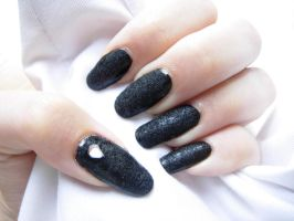 Black Velvet nails by SarahJacky