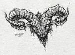 Goat tattoo design (chest piece) by munlyne