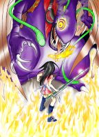 Alice vs. Jabberwocky by Fuyukichi