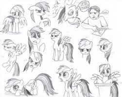 Rainbow Dash Faces MLP FiM by Nimaru