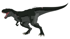 Terence the T-rex by wolfblackwing