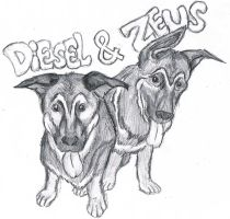 Diesel and Zeus by WforWumbo