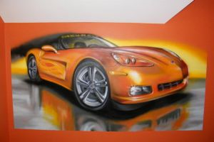 car indor graffiti and airbrush by aniaart