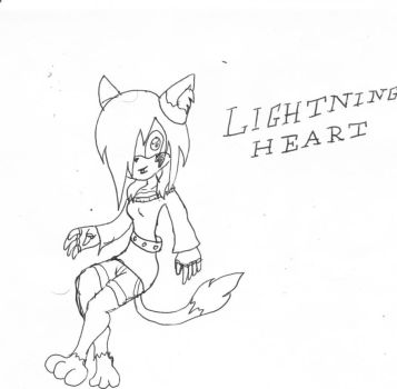 Lightning Heart the Cat by AuthorNumber2
