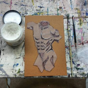 Figure Drawing Collagraph by jmnettlesjr