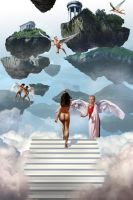 Arrival in Heaven by Drombyb