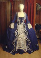 Robe a la francaise in blue by HistoryFashionLovers
