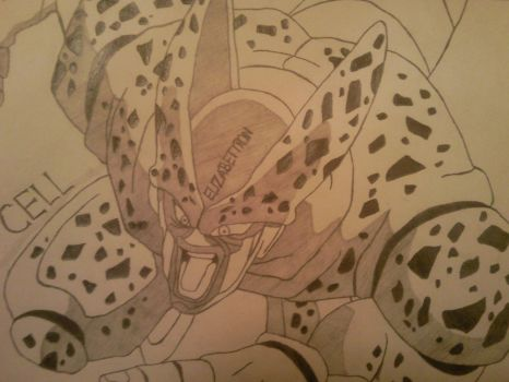 Dragon Ball Z Imperfect Cell by elizabethiron