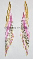 Pink, Gold, Silver Earrings by Natalie526