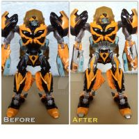 Before - After: AOE Bumblebee by Burnoutadventures