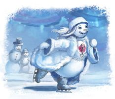 Jeva the Snowgirl: Skating by thegryph