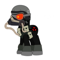 Ponyzone : Helghast Soldier by ShadyHorseman