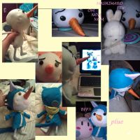 Plue Plush in Happy costume by SarahKahlan