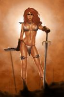 Another Red Sonja by ArtbroSean