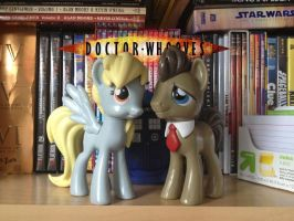 Doctor Whooves and Derpy by DrZurnPhD