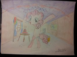Pinke Pie Drawing (Colored Pencils) by AgentX1994