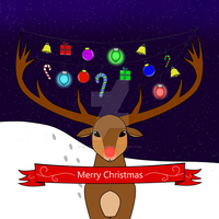 Rudolph the Red Nosed Reindeer by Mysticblueshadow