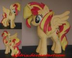 Princess Sunset Shimmer plush by agatrix