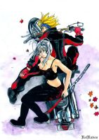 Maya and Souichiro:Tenjo Tenge by ReiRaven