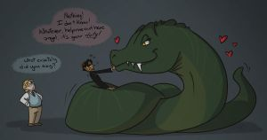 The art of wooing a serpent by Jean-Claude17