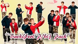 BaekYeol PNG pack by MikaIsLove