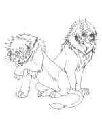 KH2-Lions Sora,Roxas - lineart by Shadowgirl89