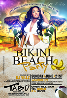 Bikini Beach Party flyer by DeityDesignz