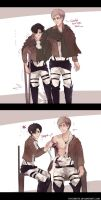 SnK: 'Stupid...' by Fiveonthe