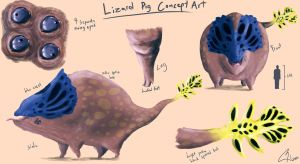 Lizard Pig concept art by Bawarner