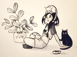 Day 8 - Inktober 2015 by Misspingu