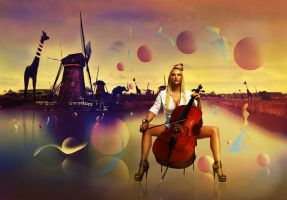 Sultry Cellist by asprinta