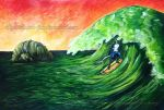 Solitary Surfer by Rainbow-Foxy