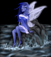 Water Fairy by wolf-drawer-kayla