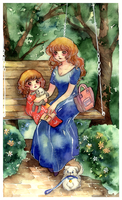 in park with mom by Lovepeace-S