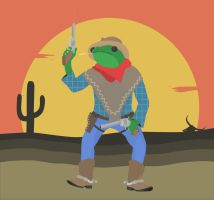 The Outlaw Frog by Valdevia