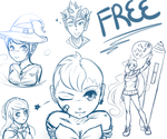 FREE Digital Sketches! ~ Limited Offer! by DreamersRain