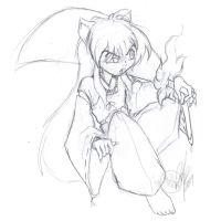 Inuyasha sticker design roughs by Bee-chan